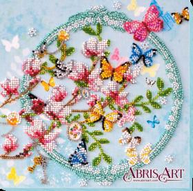 Набор-миди для вышивки бисером на натуральном художественном холсте Ключи от весны Абрис Арт АМВ-020 - 201.00грн.