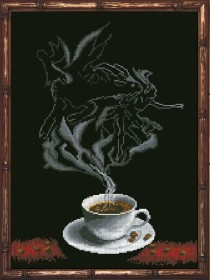 Набор для вышивки крестом Кофейная фантазия. Козерог 1, , 229.00грн., 30313, Краса и творчiсть, Гороскоп