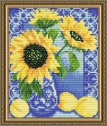 Набор для выкладки алмазной мозаикой Гжель. Персики