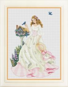 Набор для вышивки нитками Девушка с птицами OLANTA VN - 065 - 518.00грн.