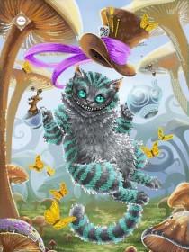 Схема вышивки бисером на атласе Once upon a time in a Wonderland, , 90.00грн., СЛ-3341, Миледи, Рисунки на ткани для вышивки бисером Веселые картинки