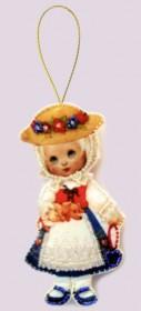 Набор для изготовления куклы из фетра для вышивки бисером Кукла. Германия Баттерфляй (Butterfly) F043 - 54.00грн.