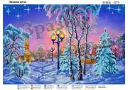 Схема вышивки бисером на атласе Зимняя ночь