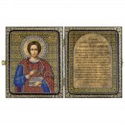 Набор для вышивки иконы в рамке-складне Св. Великомученник и Целитель Пантелеймон