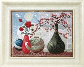 Набор для вышивки в смешанной техники Звуки керамики, , 284.00грн., ВТ-525, Cristal Art, Натюрморты