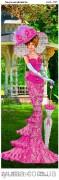 Схема вышивки бисером на атласе Панно Леди элегантность