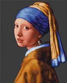Набор для вышивки крестом Девушка с жемчужиной Luca-S В467 - 455.00грн.