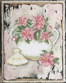 Набор для вышивания нитками Цветы 12