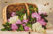 Набор для вышивки крестом Корзина с сиренью