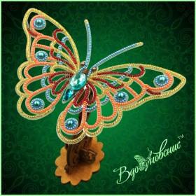Набор для вышивки бисером Ажурная бабочка 3D