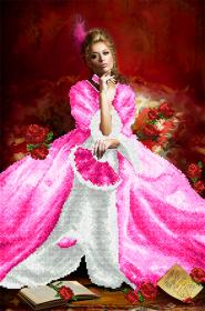 Схема вышивки бисером на атласе Королева бала