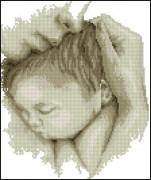 Схема вышивки бисером на атласе  Мать и дитя