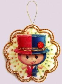 Набор для изготовления игрушки из фетра для вышивки бисером Близнецы