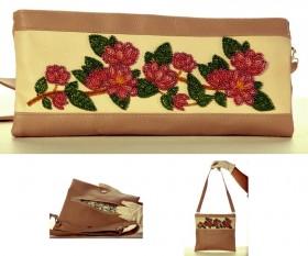Сумка-клатч для вышивки бисером Ветка магнолии