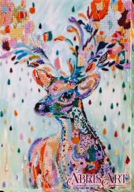 Набор для вышивки бисером на холсте Благородный олень