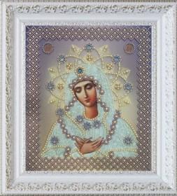 Набор для вышивания бисером Умиление (серебро), , 622.00грн., Р-318, Картины бисером, Иконы 20*30 (А4)