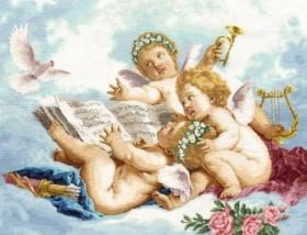 Набор для выкладки алмазной мозаикой Ангелы на облаках Алмазная мозаика DM-110 - 980.00грн.
