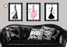 Схема для вышивки бисером на атласе  Дом моды Триптих Миледи СЛТ-2210