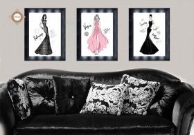 Схема для вышивки бисером на атласе  Дом моды Триптих, , 270.00грн., СЛТ-2210, Миледи, Картины из нескольких частей