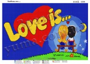 Схема для вышивки бисером на атласе Любовь это...