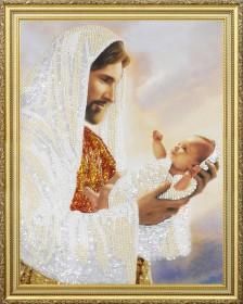 Набор для вышивки бисером Иисус с младенцем Картины бисером Р-368 - 385.00грн.