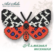 Набор-магнит для выкладки алмазной мозаикой Медведица Кайя (Arctia caja)