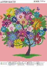 Схема вышивки бисером на атласе Дерево счастья Юма ЮМА-3191А - 61.00грн.