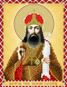 Схема вышивки бисером на атласе Св. Тихон Задонский Чудотворец А-строчка Ас5-144 - 34.00грн.