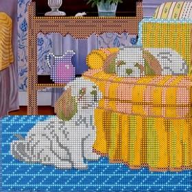 Схема для вышивки бисером на холсте Дневной отдых