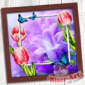 Схема вышивки бисером (нитками) на габардине Годинник Весняний Biser-Art 37410 - 85.00грн.