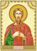 Схема вышивки бисером на холсте Святой Назар
