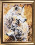 Набор для вышивки бисером Пара волков