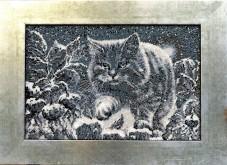 Набор для вышивки бисером на габардине Лунный кот Миледи НЮ-062