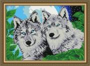 Набор для выкладки алмазной мозаикой Волки лунной ночью