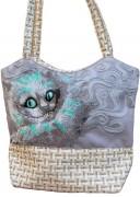 Пошитая сумка для вышивки бисером Чеширский кот