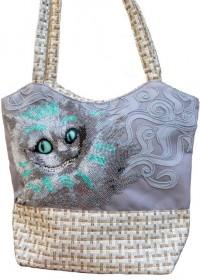 Пошитая сумка для вышивки бисером Чеширский кот Миледи ЕС-001 - 720.00грн.