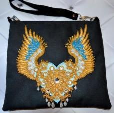 Пошитый клатч для вышивки бисером Крылатая любовь Миледи КС-008