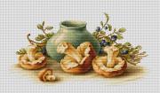 Набор для вышивки крестом Натюрморт с грибами