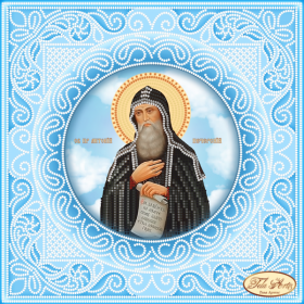 Схема вышивки бисером на атласе Святой Преподобный Антоний Печерский Tela Artis (Тэла Артис) ТИС-020(1) - 75.00грн.