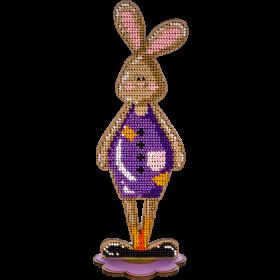 Набор для вышивки бисером по дереву Кролик Мальчик