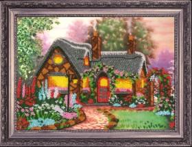 Рисунок на атласе для вышивки бисером Домик мечты, , 66.00грн., СА312, Баттерфляй (Butterfly), Схемы и наборы для вышивки бисером по Фен шуй