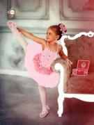 Схема для вышивки бисером на атласе Маленькая балерина