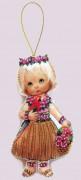 Набор для изготовления куклы из фетра для вышивки бисером Кукла. Гавайи