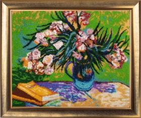 Набор для вышивки бисером Олеандры и книги (по мотивам картины В. Ван Гога)
