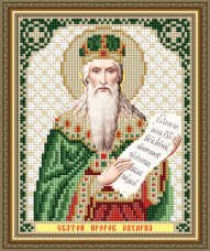 Схема вышивки бисером на авторской канве Святой Пророк Захария Art Solo VIA5313