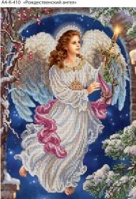 Схема для вышивки бисером на габардине Рождественский ангел  Acorns А4-К-410 - 45.00грн.
