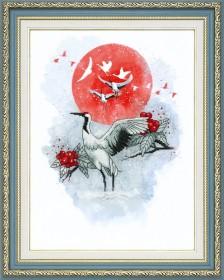 Набор для частичной вышивки крестом  Журавлиная песня Чарiвна мить (Чаривна мить) РК-098 - 431.00грн.