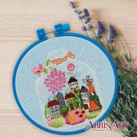 Набор для вышивки крестом Подарок с домиками Абрис Арт AHM-005 - 109.00грн.