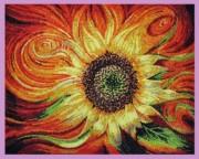 Набор для вышивки бисером Огненный цветок