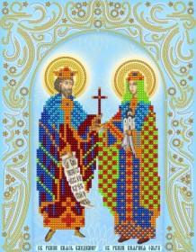 Схема вышивки бисером на атласе  Св. Равноап. Владимир и Ольга (серебро) А-строчка АС4-163 - 51.00грн.